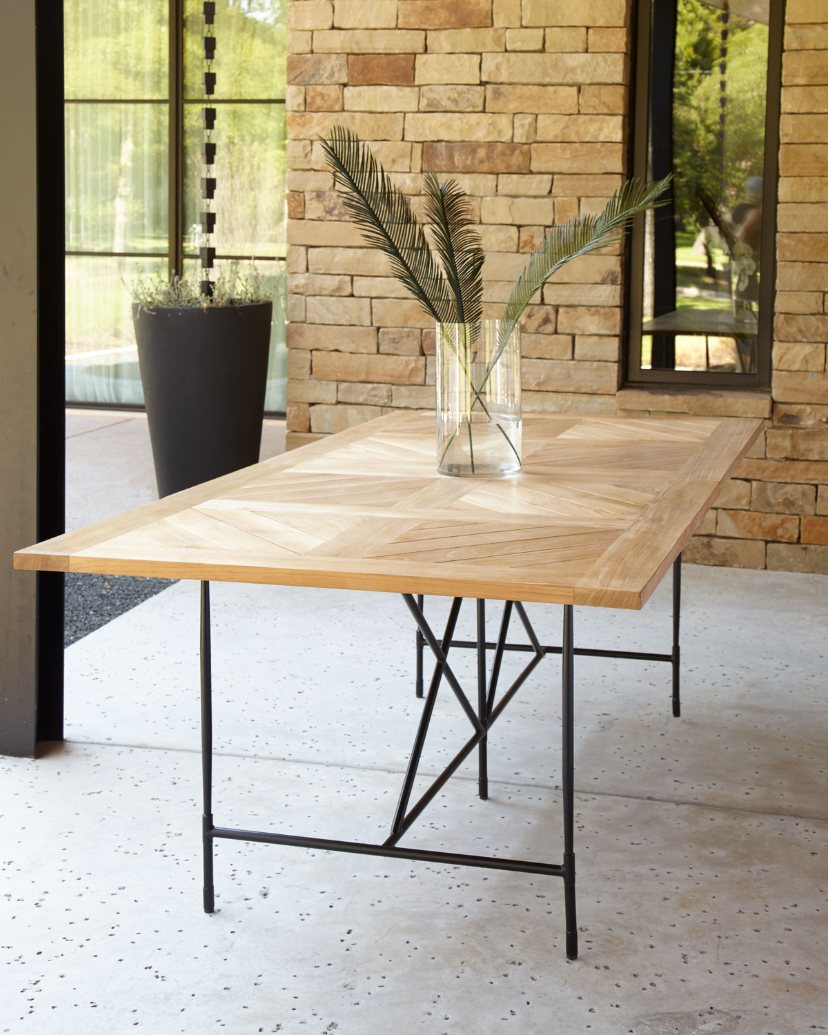 """Avery Neoclassical 122""""l Outdoor Dining Table Inside Most Current Avery Rectangular Dining Tables (View 13 of 25)"""