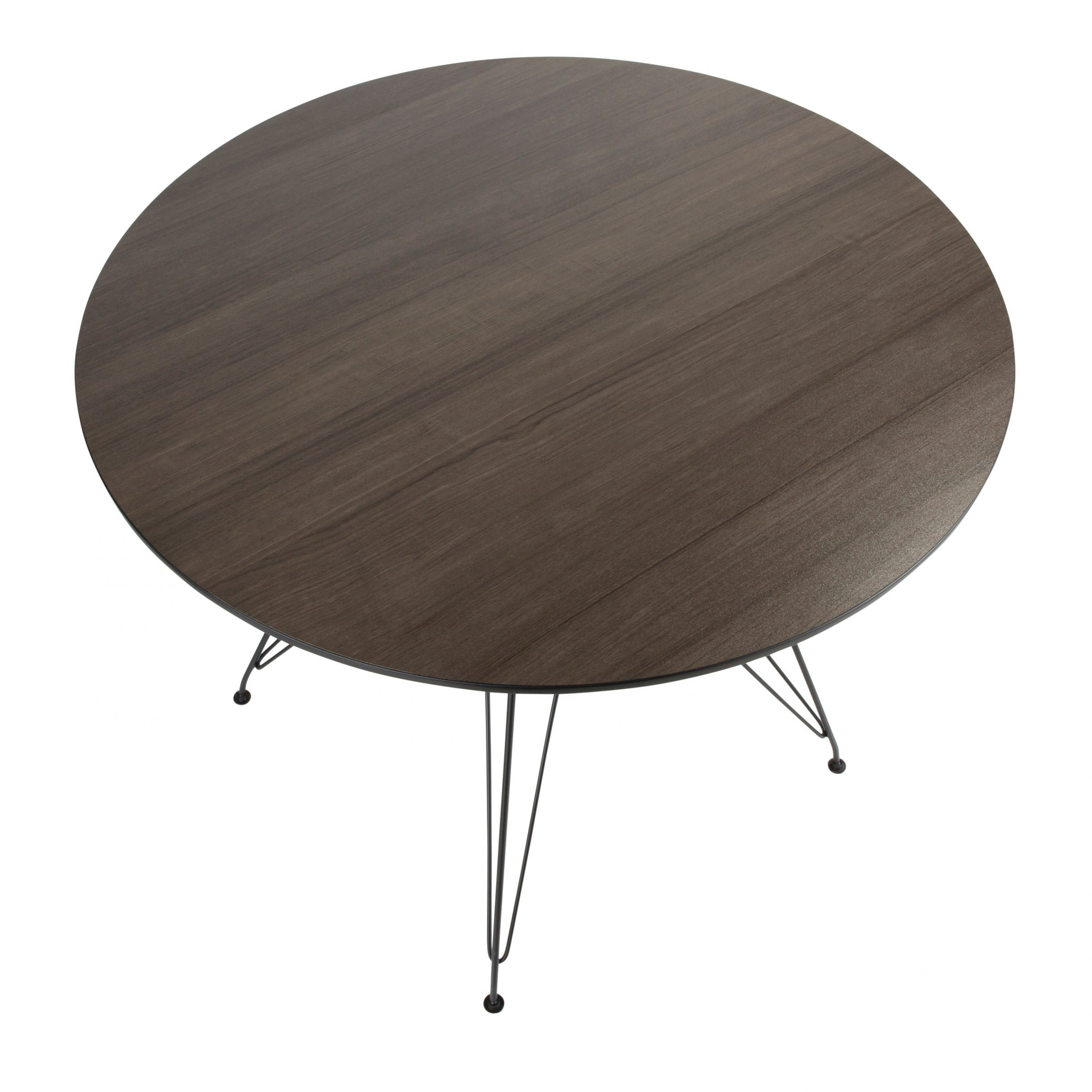 Avery Round Dining Table In Black And Walnut In Most Current Avery Round Dining Tables (View 3 of 25)