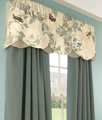 Aviary Lined Layered Scalloped Valances: I Covet This (View 4 of 25)