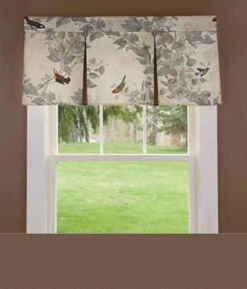 Aviary Lined Pleated Valance – Country Curtains® In 2019 With Regard To Aviary Window Curtains (View 5 of 25)