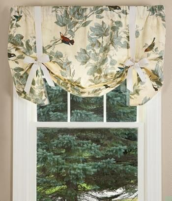 Aviary Lined Tie Up Valance – Country Curtains® | Diy In Inside Aviary Window Curtains (View 2 of 25)
