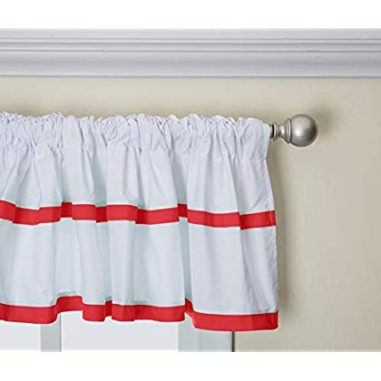 Baby Doll Medallion Window Valance, Red Regarding Medallion Window Curtain Valances (View 10 of 25)