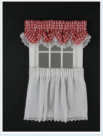 Balloon Valance – Tier Curtain : Designing Ways, Dollhouse Intended For Tailored Valance And Tier Curtains (View 16 of 25)