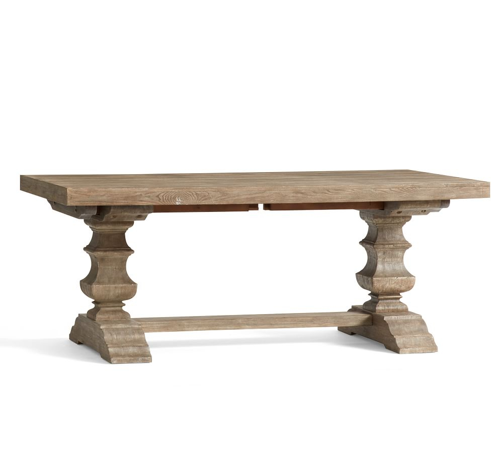 Banks Extending Dining Table Pertaining To 2017 Gray Wash Banks Extending Dining Tables (View 11 of 25)