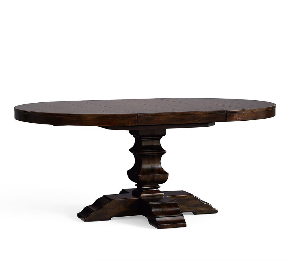 Featured Image of Alfresco Brown Banks Pedestal Extending Dining Tables