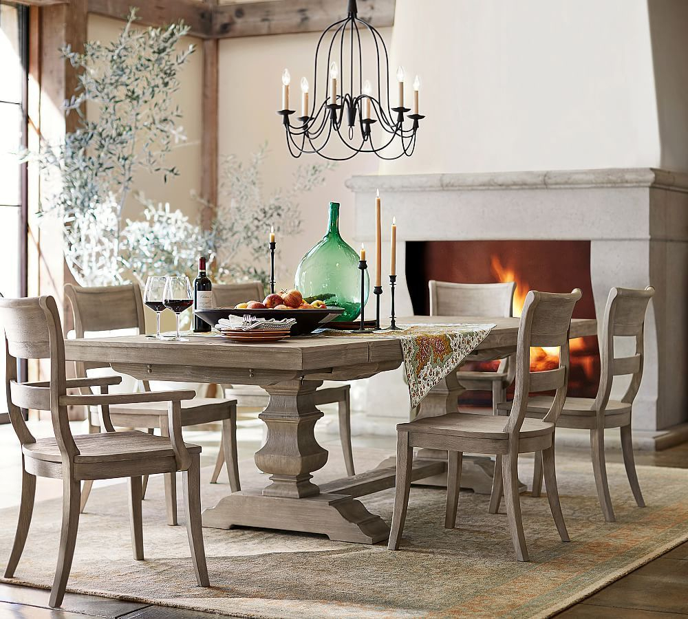 Featured Image of Black Wash Banks Extending Dining Tables