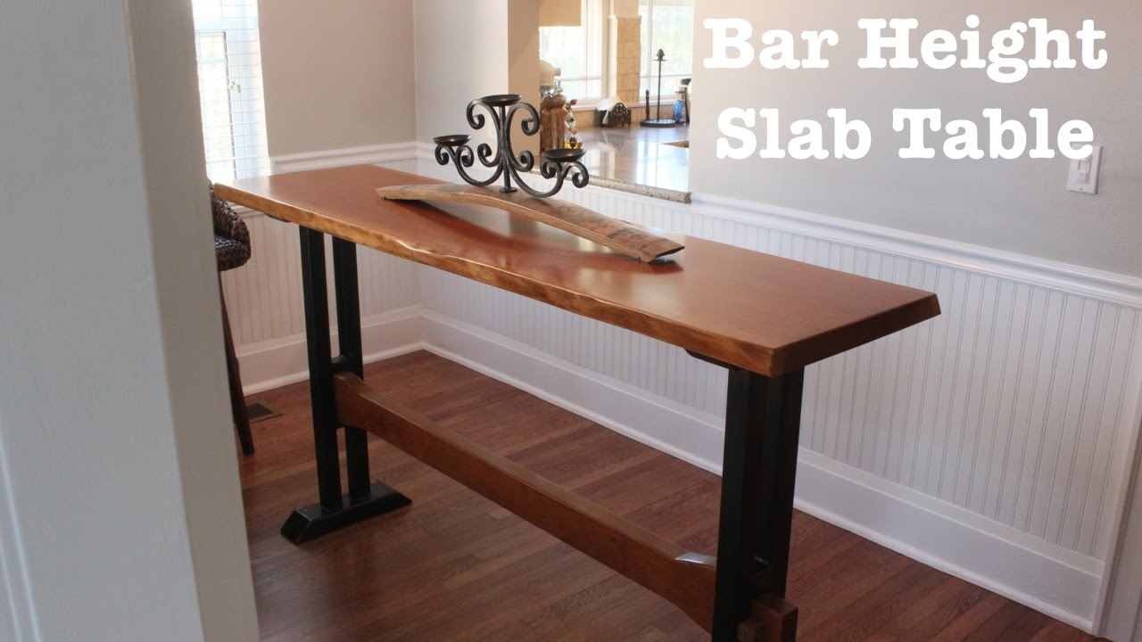 Bar Height Slab Table | How To With Most Recent Alder Pub Tables (Image 6 of 25)