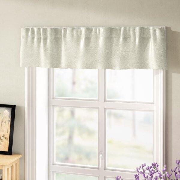 Basement Window Curtains Short | Wayfair Intended For White Tone On Tone Raised Microcheck Semisheer Window Curtain Pieces (Image 6 of 25)