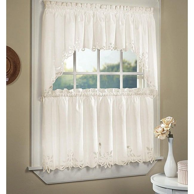 Featured Image of Cotton Lace 5 Piece Window Tier And Swag Sets