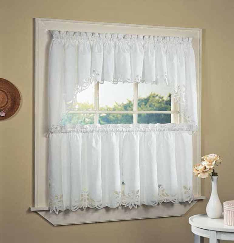 Battenburg Tier, Valance & Swag In 2019 | Products | Kitchen With Cotton Lace 5 Piece Window Tier And Swag Sets (View 5 of 25)