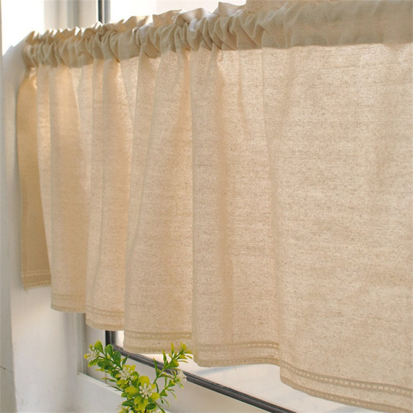 Bay Window Kitchen Tier Curtain Toilet Cotton Linen Valance Restroom Multi Styles Lace Sheer Curtains New Arrival 12 8Mz L1 Curtains And Blinds Sheers In Linen Stripe Rod Pocket Sheer Kitchen Tier Sets (View 14 of 25)