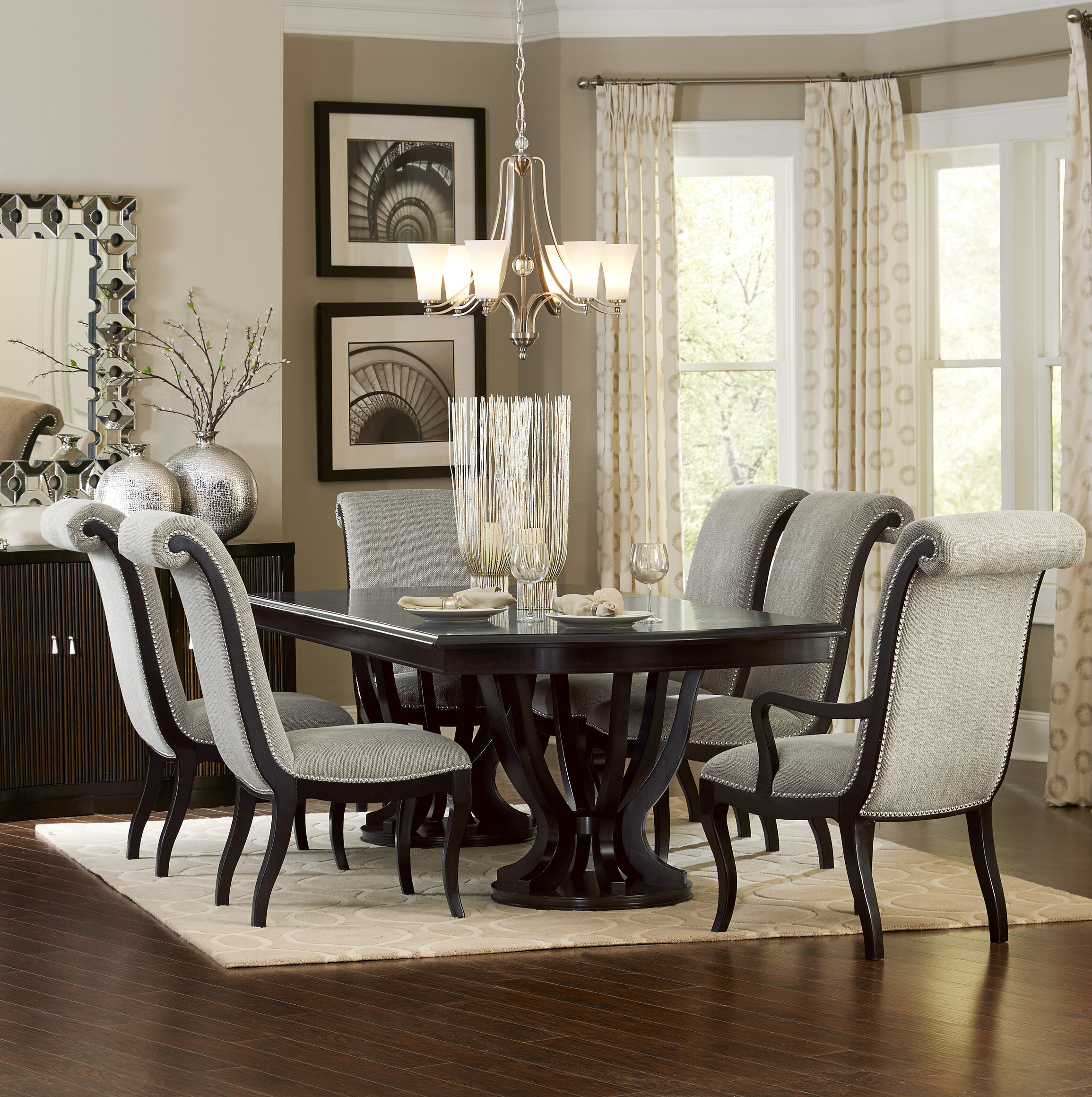 Baypoint 7 Piece Extendable Dining Set In Most Current Gray Wash Lorraine Extending Dining Tables (View 19 of 25)