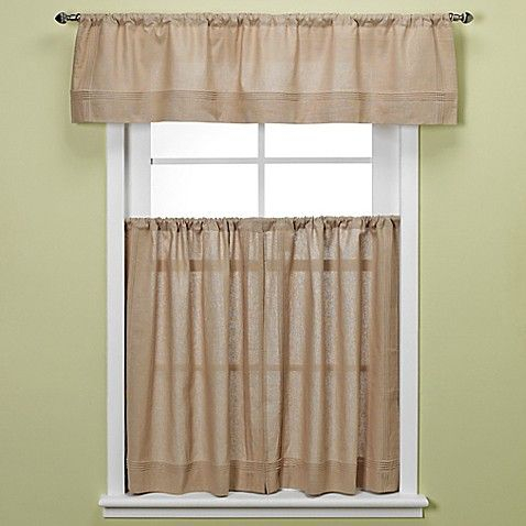 Bbb Maison Kitchen Window Curtain Tiers In Linen | Window Inside Pintuck Kitchen Window Tiers (View 2 of 25)