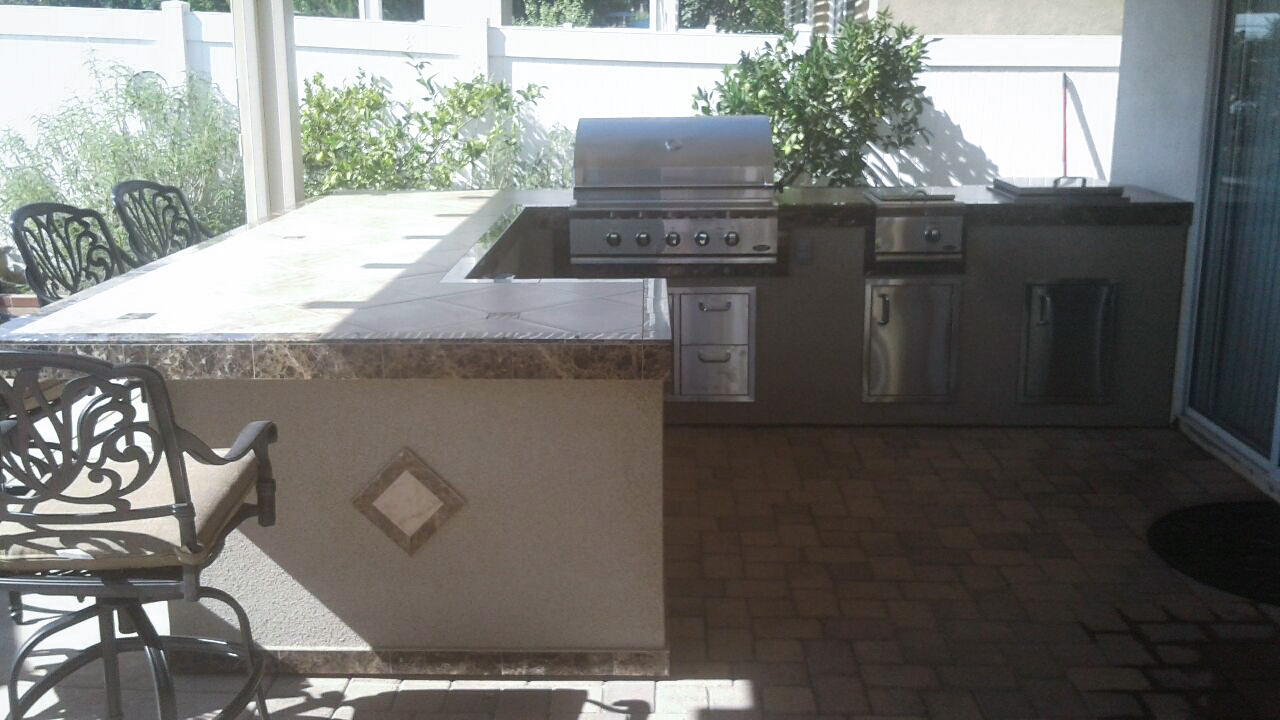Bbq Islands Upland | Extreme Backyard Designs For Most Up To Date Upland Marble Kitchen Islands (Image 9 of 25)