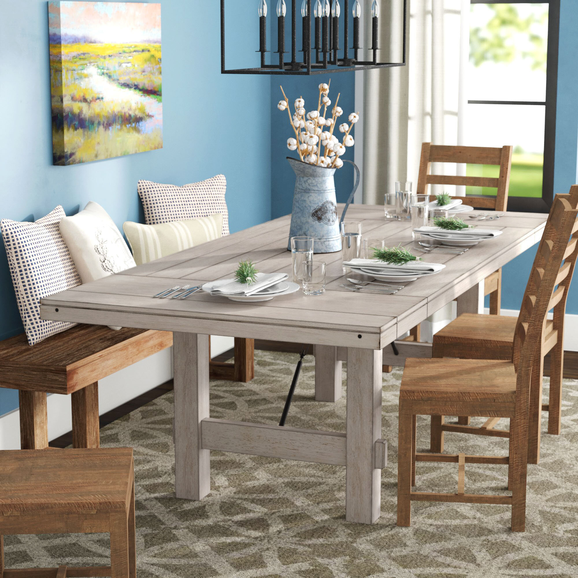 Beachem Extendable Solid Wood Dining Table Intended For Most Recently Released James Adjustables Height Extending Dining Tables (Image 2 of 25)