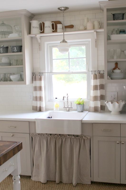 Before & After The Kitchen | Make My House Look Pretty For Farmhouse Kitchen Curtains (View 7 of 25)
