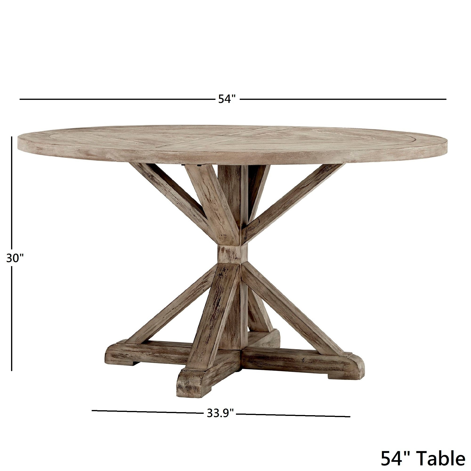 Benchwright Antique Grey Oak Round Dining Tableinspire Q Artisan In Best And Newest Benchwright Round Pedestal Dining Tables (View 11 of 25)