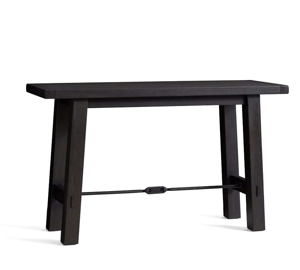 Benchwright Bar Height Dining Table Inside 2018 Blackened Oak Benchwright Extending Dining Tables (View 8 of 25)