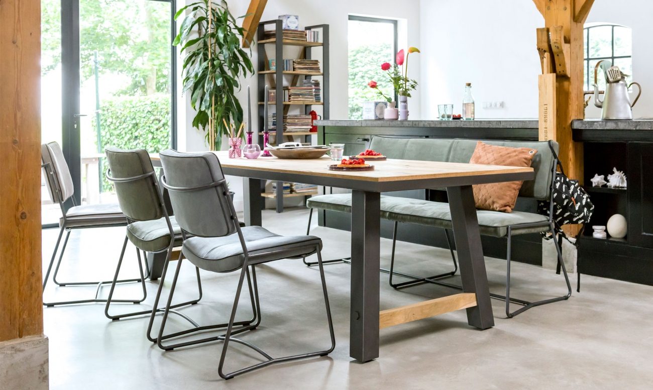 Benchwright Dining Range – Fishpools Regarding Most Recent Blackened Oak Benchwright Dining Tables (Image 9 of 25)