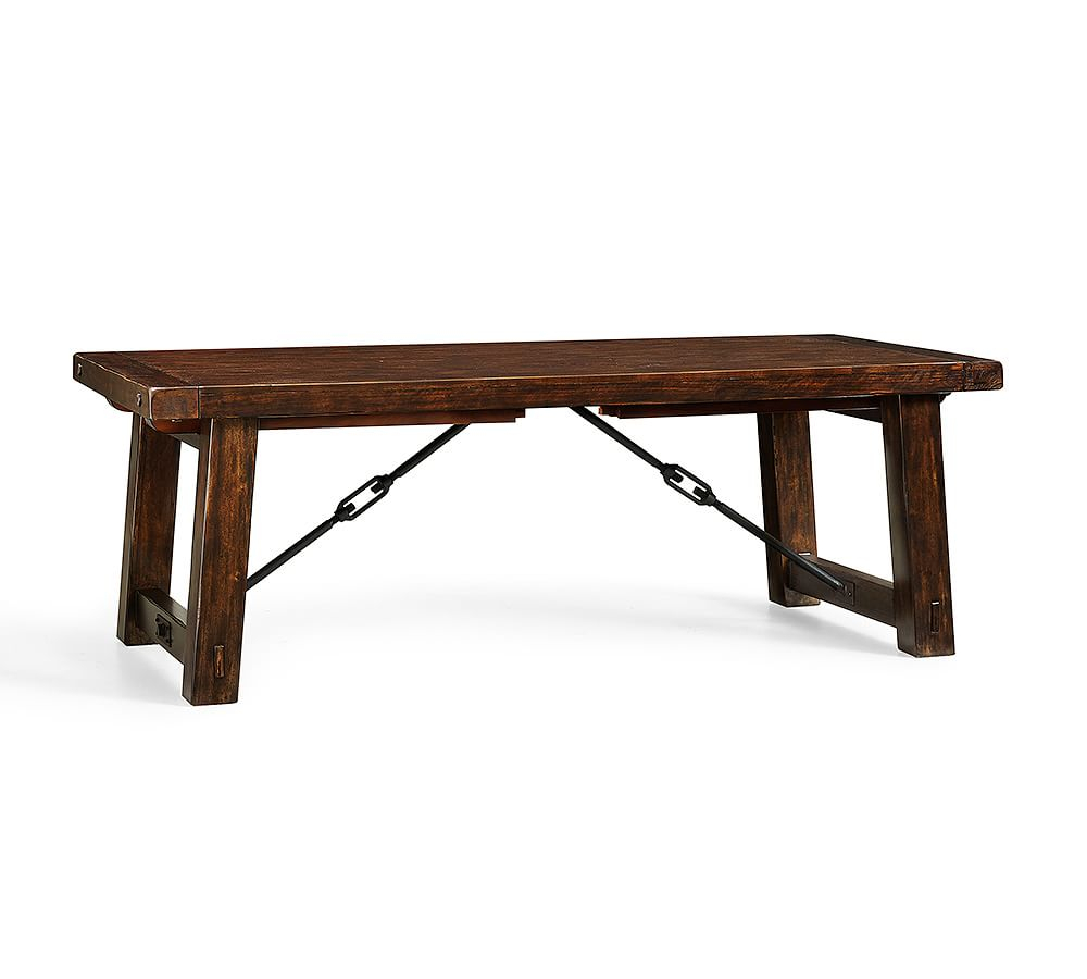 "Benchwright Extending Dining Table, 86 X 42"" Rustic Mahogany For Best And Newest Rustic Mahogany Benchwright Dining Tables (View 2 of 25)"
