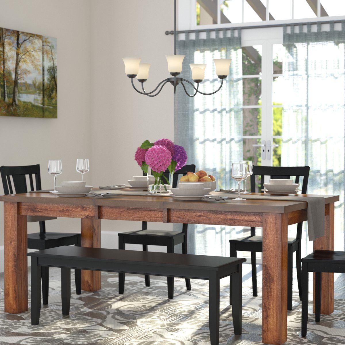 Benchwright Extending Dining Table, Blackened Oak | Decor Throughout Latest Blackened Oak Benchwright Extending Dining Tables (View 6 of 25)
