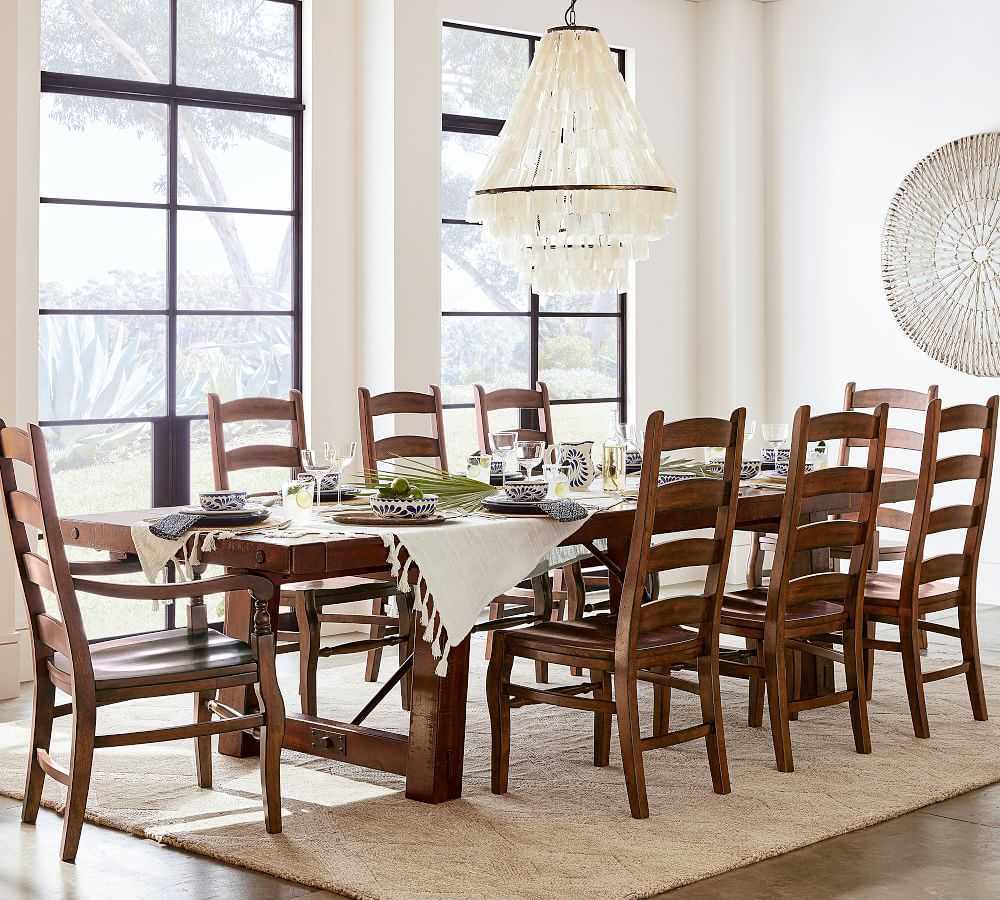Benchwright Extending Dining Table In Most Recent Rustic Mahogany Benchwright Pedestal Extending Dining Tables (View 9 of 25)