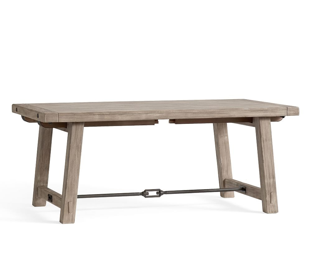 """Benchwright Extending Dining Table, Seadrift, 60"""" – 84"""" L In In Most Current Gray Wash Benchwright Dining Tables (View 2 of 25)"""