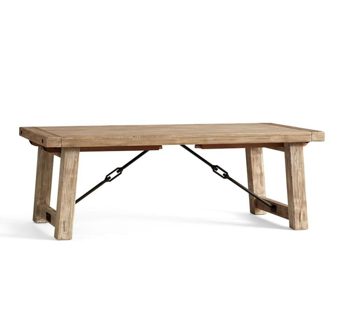 Benchwright Extending Dining Table, Seadrift | Kitchen Love Intended For Most Current Gray Wash Benchwright Extending Dining Tables (View 2 of 25)