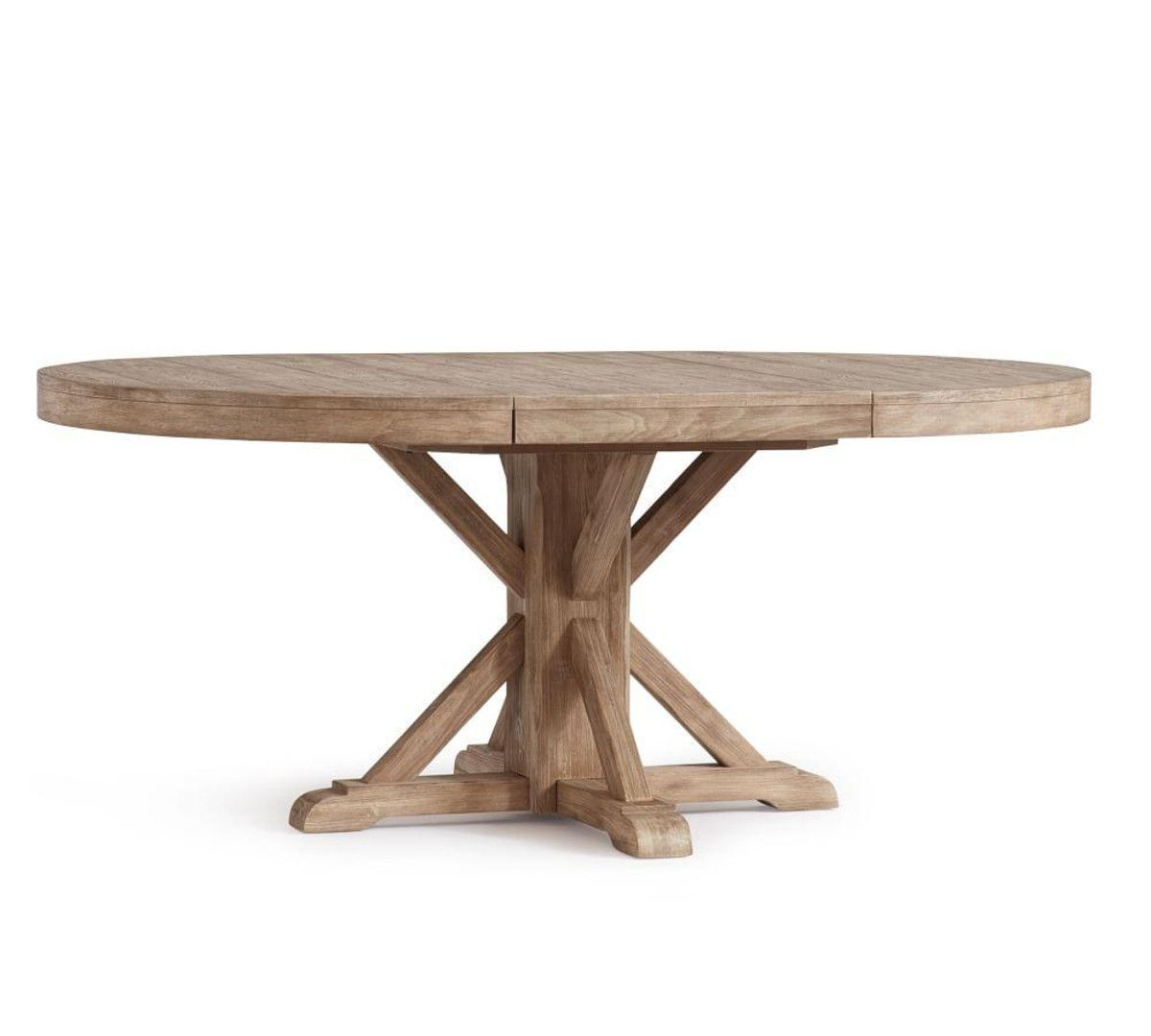 Featured Image of Seadrift Benchwright Pedestal Extending Dining Tables