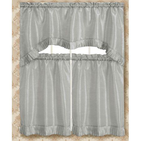 Featured Image of Bermuda Ruffle Kitchen Curtain Tier Sets