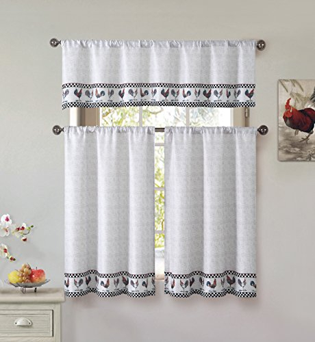 Best And Coolest 16 Tier Window Curtains – Top Decor Tips Intended For Cotton Blend Grey Kitchen Curtain Tiers (View 13 of 25)