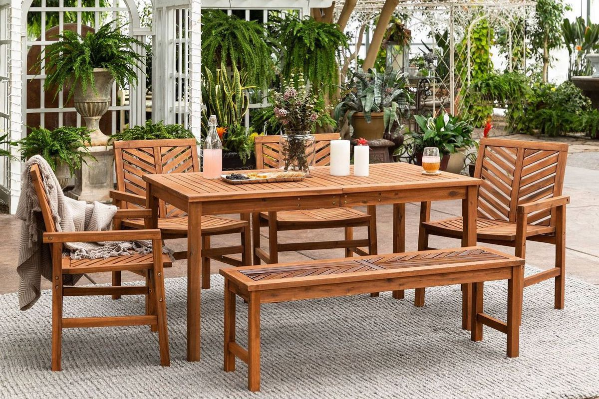 Best Outdoor Furniture: 12 Affordable Patio Dining Sets To Within Newest Gray Wash Banks Extending Dining Tables (View 25 of 25)