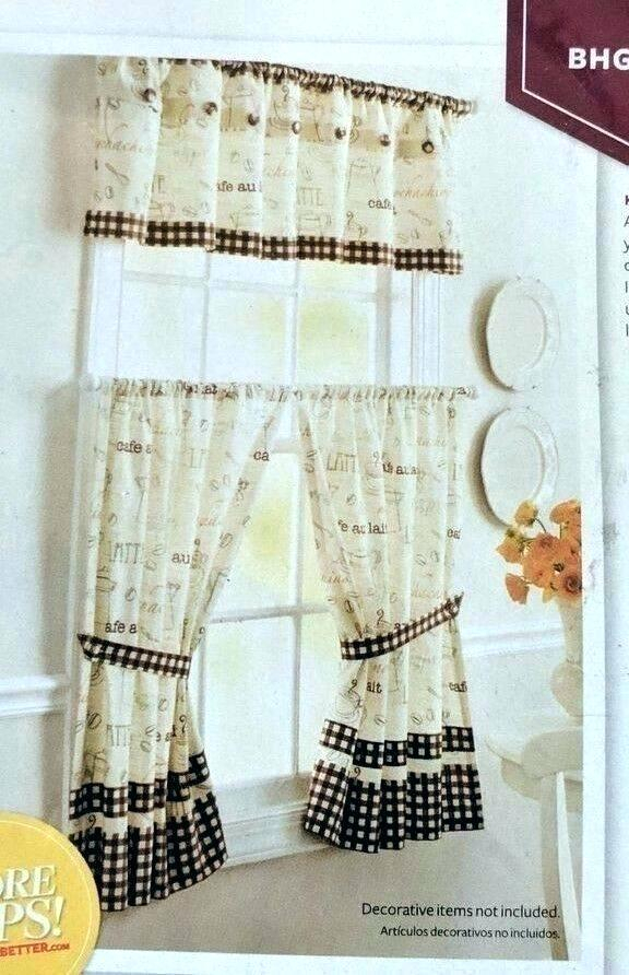 Better Homes And Gardens Valances – Ironhorseinn Regarding Embroidered Floral 5 Piece Kitchen Curtain Sets (View 19 of 25)