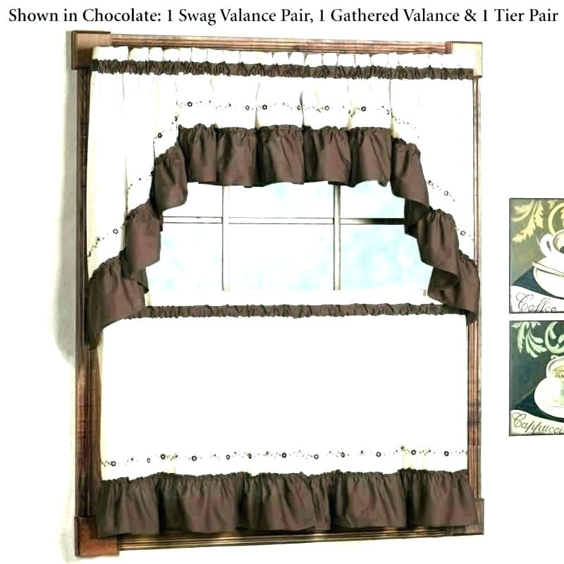 Better Homes And Gardens Valances – Ironhorseinn Within Chocolate 5 Piece Curtain Tier And Swag Sets (View 10 of 25)