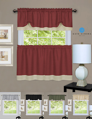 Better Homes & Gardens Fresh Brewed Tier Set Or Valance Throughout Pintuck Kitchen Window Tiers (View 5 of 25)