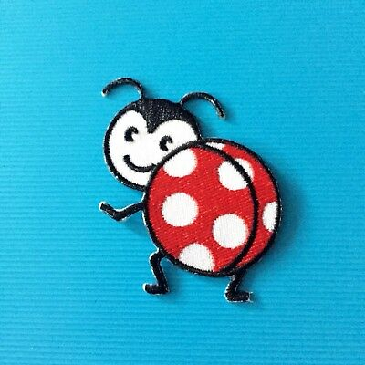 Big Butt Ladybug Bug Embroidered Patch Iron On Applique | Ebay Within Embroidered Ladybugs Window Curtain Pieces (View 18 of 25)