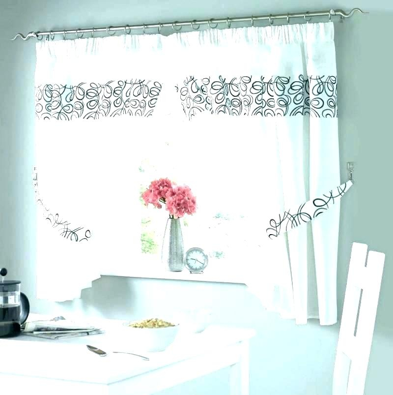 Bistro Curtains French Style 3 Fat Chef Kitchen Tier And Throughout Embroidered Chef Black 5 Piece Kitchen Curtain Sets (View 7 of 25)