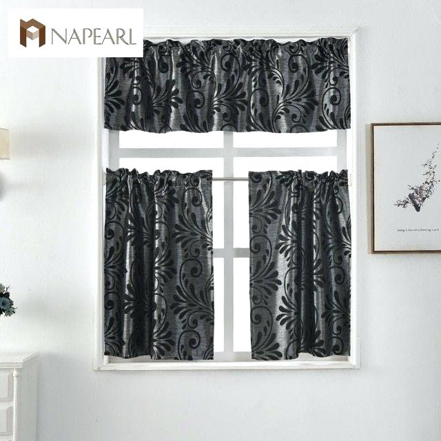 Black Cafe Curtains – Kathaa (View 4 of 25)