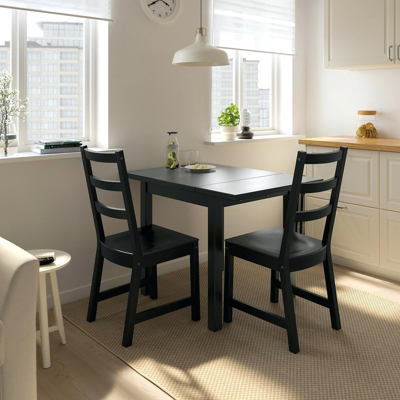 Black Kitchen Table With Leaf – Funtom (View 4 of 25)