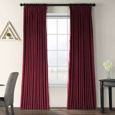 Blackout Signature Burgundy Doublewide Blackout Velvet Curtain – 100 In. W X 96 In (View 18 of 25)