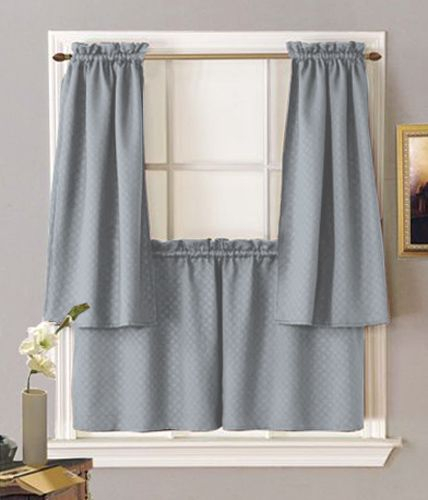 Block Out Unwanted Light Or Sounds With Facets Rod Pocket Inside Dove Gray Curtain Tier Pairs (View 25 of 25)
