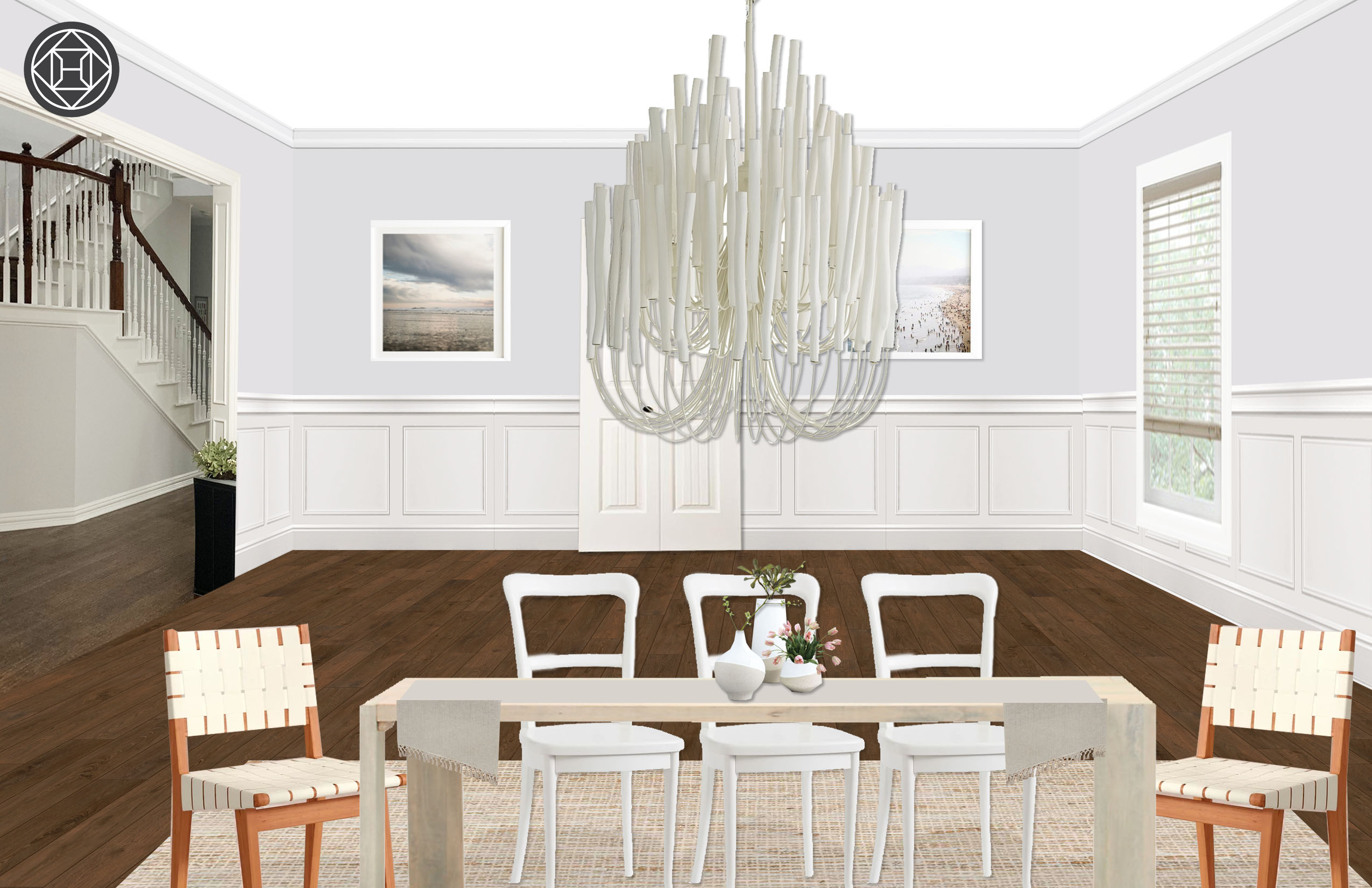 Bohemian, Coastal Dining Room Designhavenly Interior Regarding Most Up To Date Seadrift Toscana Pedestal Extending Dining Tables (Photo 16 of 25)