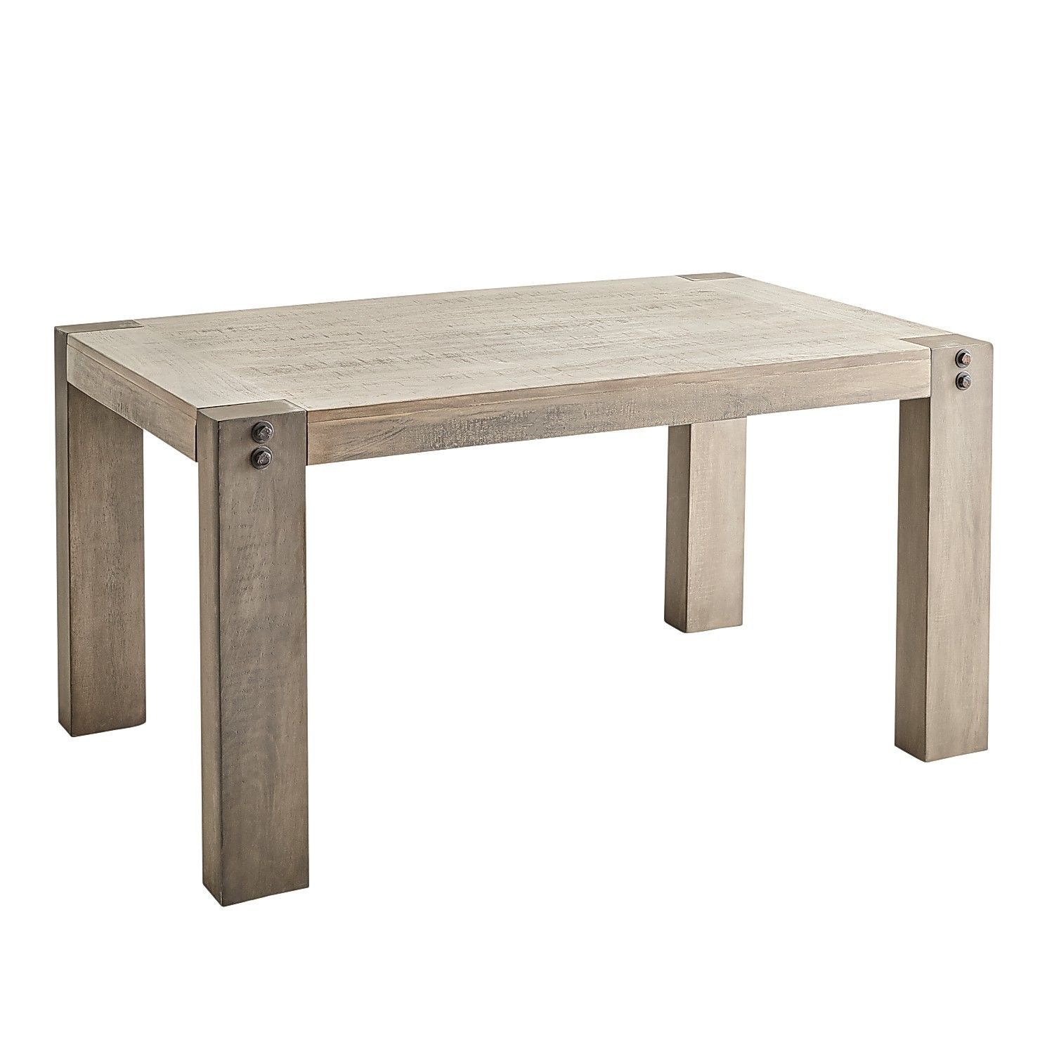 """Bolt 60"""" Gray Dining Table 