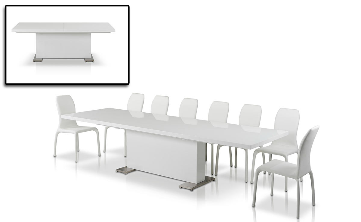 Bono Modern White Dining Table Pertaining To Best And Newest Faye Extending Dining Tables (View 21 of 25)