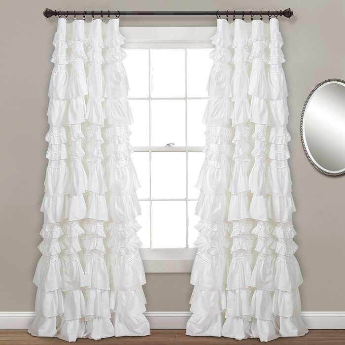 Bridlington Solid Semi Sheer Rod Pocket Single Curtain Panel With Elegant Crushed Voile Ruffle Window Curtain Pieces (View 15 of 25)