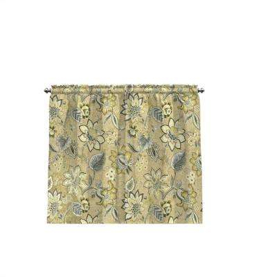 Brighton Blossom Window Tier Pair In Flax – 52 In. W X 36 In (View 9 of 25)