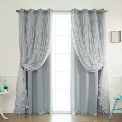 Brockham Solid Blackout Thermal Grommet Curtain Panels (Set For Luxury Light Filtering Straight Curtain Valances (Image 3 of 25)