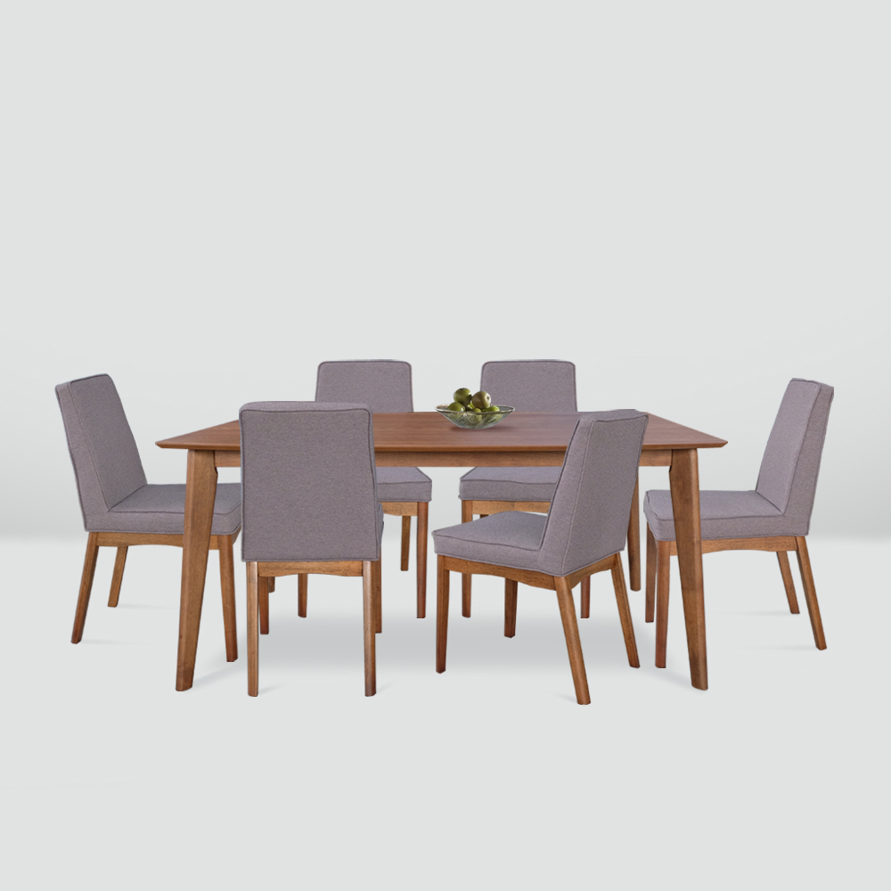 Brooks 1+6 Dining Set Regarding Most Popular Brooks Dining Tables (View 10 of 25)
