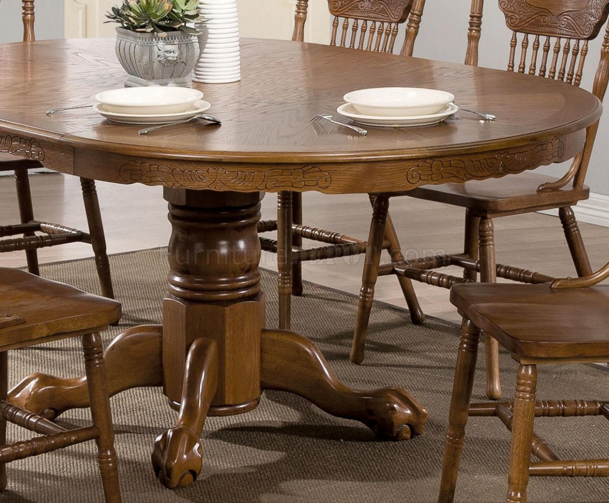Brooks Dining Table 104270Coaster In Oak W/options Throughout Newest Brooks Dining Tables (View 6 of 25)