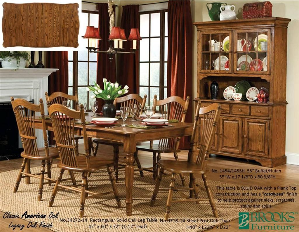 Brooks Furniture Dining Room Classic American Oak Legacy Oak In 2018 Brooks Dining Tables (View 17 of 25)